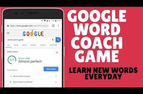 Google Word Coach Game Play OnlineTo Learn New Words Daily Using Google -  YouTube in 2020 | New words, Words, English words