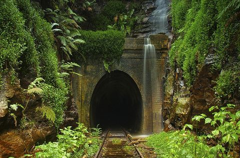 Abandoned train tunnel Helensburgh train station, South of Sidney, Australia lifeadvancer -