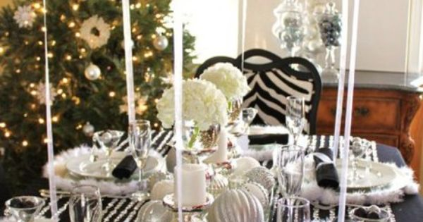 Wedding -Event black and white -silver tablescapes ;Balloons used as Napkin Holders