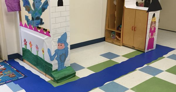 Preschool Classroom Wall Decor ~ Preschool castle for our dramatic play filled the wall