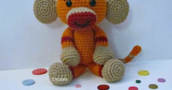 Amigurumi To Go!: Orange Monkey Free Crochet Pattern Sock ...