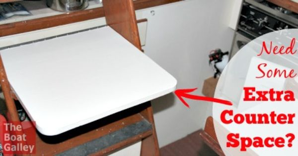 Add A Removable Counter Boat Galley Galley Sink Cover
