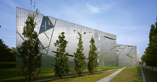 Photo Exterior View Jewish Museum Berlin Libeskind Building Jewish Museum Berlin Judisches Museum Structural Expressionism