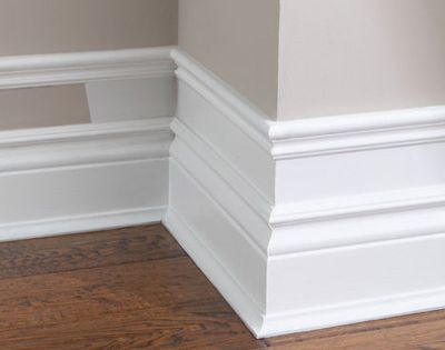 "smart idea - ""Make your baseboard more dramatic...add small pieces of trim"