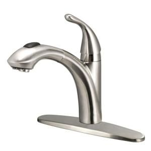 Glacier Bay Keelia Single Handle Pull Out Sprayer Kitchen Faucet