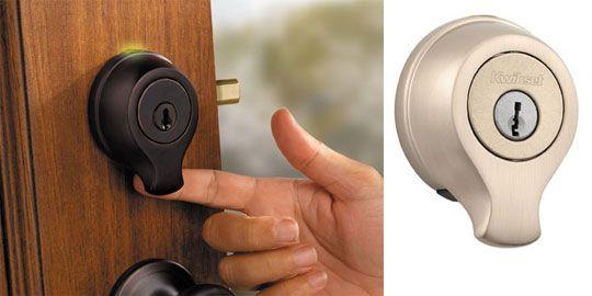 Kwikset Smartscan Is An Ansi Grade 1 Deadbolt With A Fingerprint Scanner Allowing Keyless Entry Fo Fingerprint Door Lock Smart Door Locks Apartment Door Locks