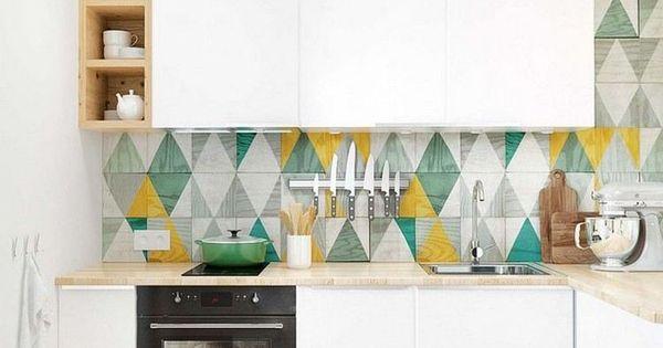 Couleur Pour Cuisine 105 Id Es De Peinture Murale Et Fa Ade Armoires Triangles Et Cuisine