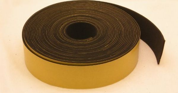 Neoprene Rubber Self Adhesive Strip 1 1 2 Wide X 1 16 Thick X 33 Feet Long Undefined Neoprene Rubber Rubber Adhesive Adhesive