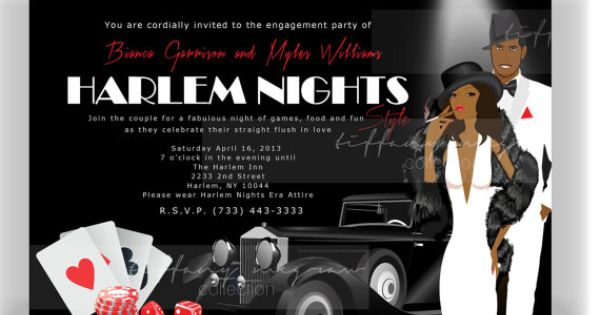 Harlem Nights Themed Engagement Party | Harlem nights ...