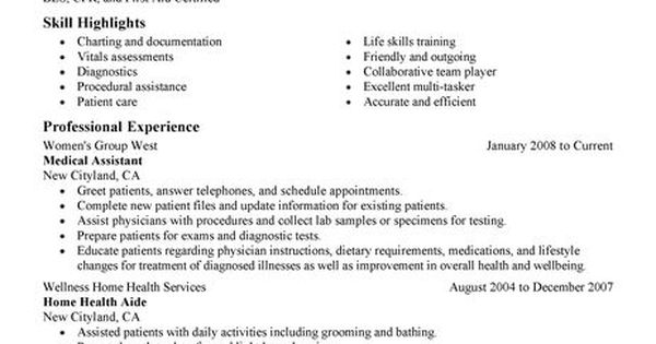 Medical Resume Examples