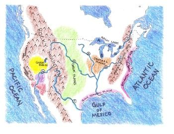 Us Physical Map For Kids This project is one I've used for years with fifth graders, but it