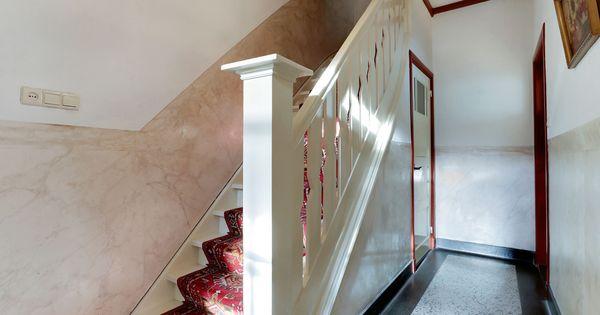 Hal met originele trapopgang en terrazzo vloer jaren 30 trap pinterest - Trap voor daken ...