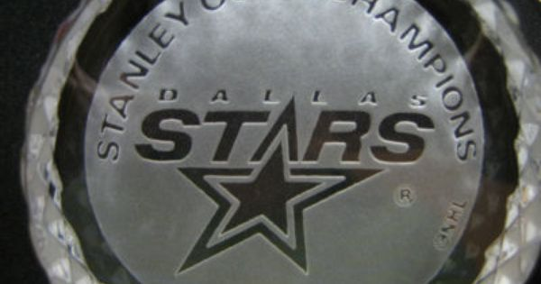 Waterford Crystal Hockey Puck 1999 Dallas Stars Stanley