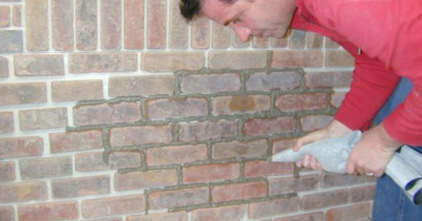How To Grout Interior Brick Veneer Exposed Brick Bricks And Faux Brick