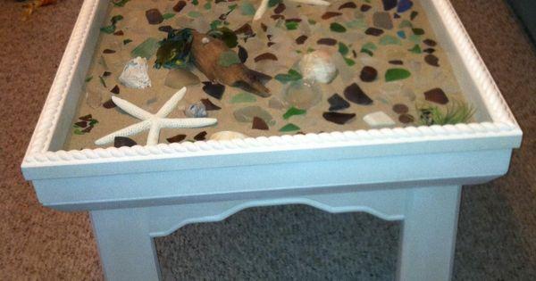 Sand Star Fish Sea Shells Drift Wood And Sea Glass