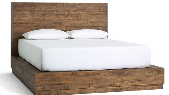 Big daddy 39 s antiques reclaimed wood bed pottery barn for Salvaged wood bay area