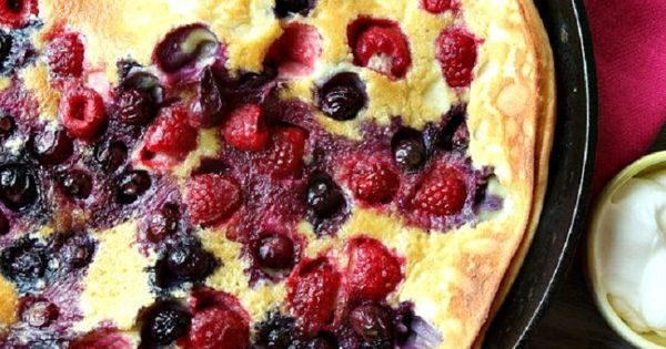 Double Berry Puff Pancake | Fluffiest Pancakes, Pancakes and Berries
