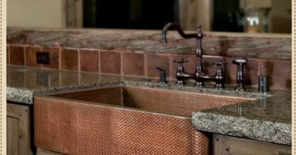 Barn House Sink : glorious, copper barn sink Dream House/ Decor Pinterest Copper ...