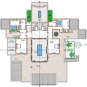 Plan Of Villa First Floor Oasis Bab Atlas Marrakech Luxury Villa Villa Marrakech