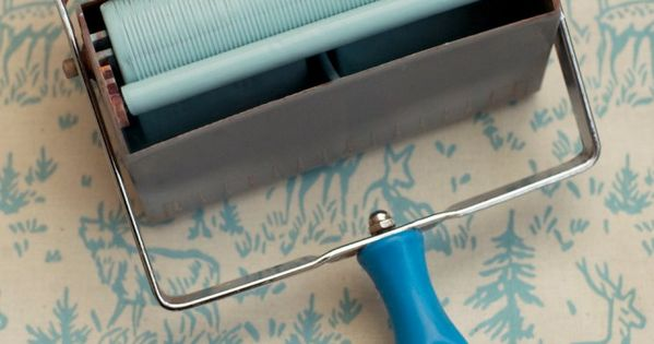 Easily Recreating The Look of a Classic Wallpaper: Patterned Paint Rollers |