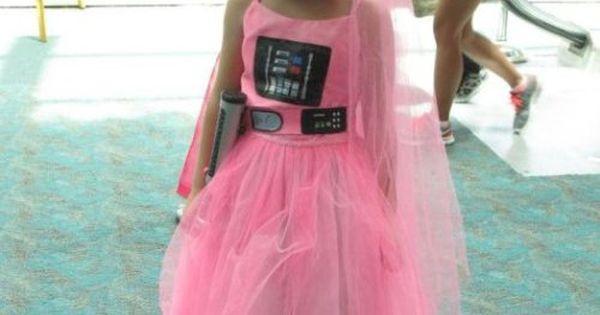 Darth Vader princess - Funny costume of a pink Darth Vader princess
