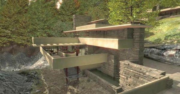 159 la maison sur la cascade 1936 frank lloyd wright - Frank lloyd wright maison ...
