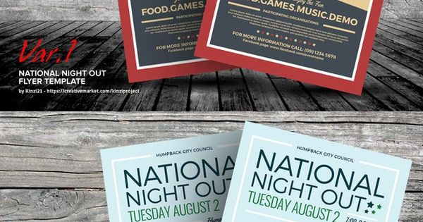 National Night Out Flyer Templates Flyer Templates Flyer