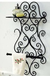 Iron Bathroom Rack Paper Towel Holder Wrought Iron Towel Rack Wrought Iron Wall Shelf Clapboard Debris Rack Decoracao De Ferro Arte Ferro Toalheiro