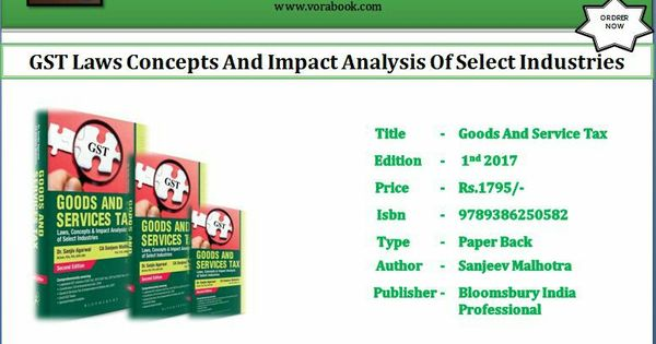 Title  Gst Laws Concepts And Impact Analysis Of Select Industries