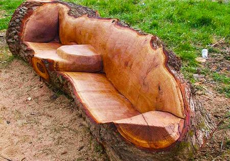 Redneck Campfire Lounging Couch, Awesome idea!