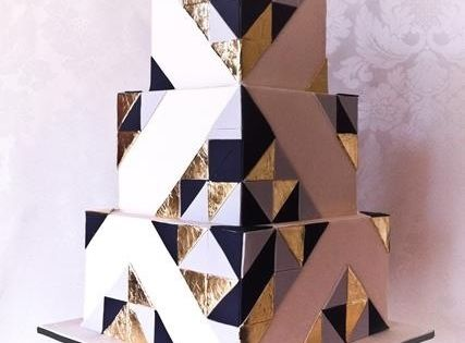 art deco cake/ geometric cake / modern wedding cake