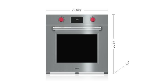 Wolf 30 m series professional built in single oven so30pm for Built in microwave ovens 30 inch