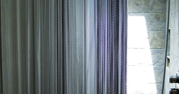 Cascade Coil Metal Mesh Shower Curtains Are A Great