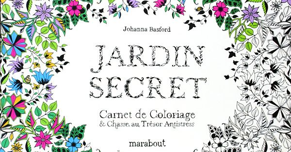 jardin secret de johanna basford carnet de coloriage chasse au tr sor coloriages. Black Bedroom Furniture Sets. Home Design Ideas
