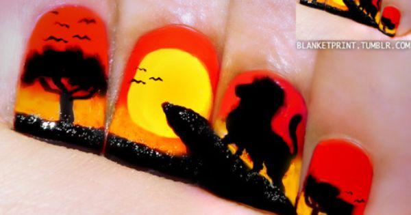 Lion King Nail design