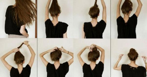 #bun girl hair longhair