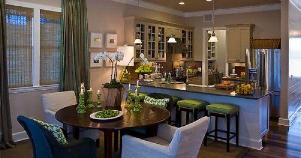 Comedor cocina ideas para separar la cocina del comedor for Colores para cocina comedor