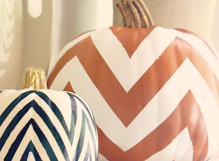 Chevron Pumpkins ~ I hear these are so in right now ;)
