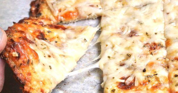 Gluten Free, Grain Free Cheesy Garlic Cauliflower Pizza