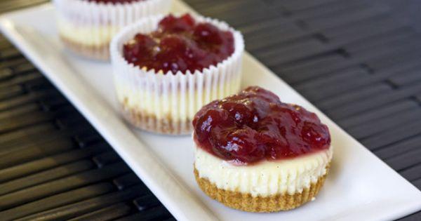 Mini Vanilla Bean Cheesecakes | Dessert | Pinterest | Vanilla Bean ...