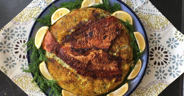 Recipe Tahdig E Mahi Crispy Rice With Fish Recipes Rice Crispy Stuffed Peppers
