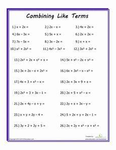 Combining Like Terms | Combining like terms, Algebra ...