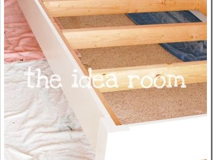 DIY Bed Frame // king with storage underneath and doors for head/foot