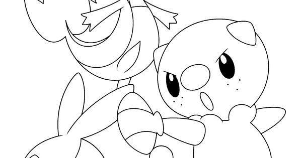 coloring pages pokemon snivy plays - photo#21