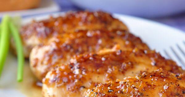 Honey Dijon Garlic Chicken Breasts - boneless skinless chicken breasts quickly baked