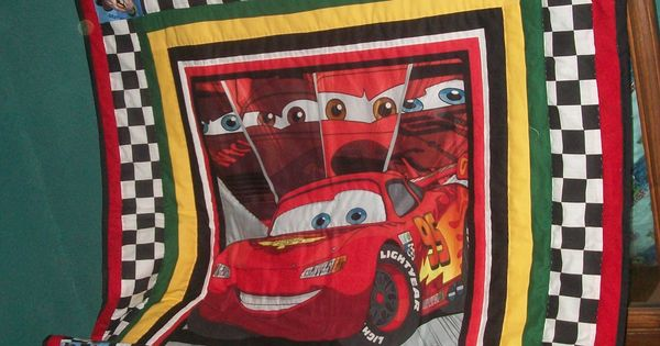 Disney Cars Quilt Quilts Pinterest Panel Quilts Boy