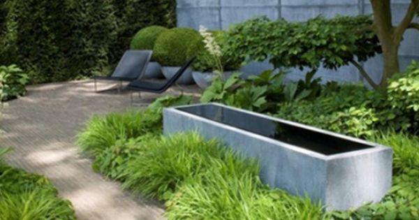Polyester en zinken vijvers geschikt voor balkon en terras monique en anders gardin - Moderne landschapsarchitectuur ...