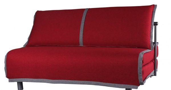 Banquette convertible dalton en tissu rouge et gris prix promo canap vente vente unique Canape rouge et gris