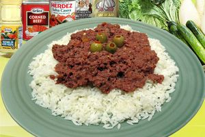 Bully Beef Corn Beef And Rice Jamaican Recipes Corned Beef