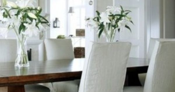 Parson Chairs For The Dining Room W Gathered Skirt